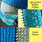 Spring Bird Bobble Afghan Details (2/2) by Saekoi