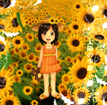 sunflower girl by Rijio