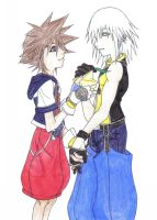 Riku and Sora share a paopu by mutilicious