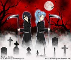 Rukia and Botan - Grim Reapers by Bleach-Lovers