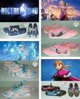 Dr Who and Disney sneakers by Szaloncukor