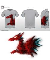Dragon hawk T-shirt design by Amenofis4th