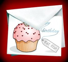 Birthday Cupcake card by miss-bunny-shoes