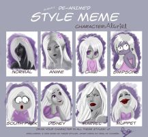 Character Style Meme: Alariel by magggg