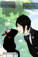 Sebastian michaelis loves cats by CrimsonFange