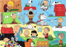 Peanuts Charlie Brown Friends by ChibiThekla