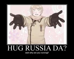 Russia Hug Motivational Poster by AwesomeAriel