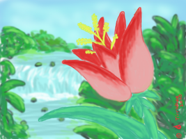 Tropical speedpaint o.o by Tirrathee