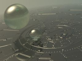 Space exploration. The flying spheres by Topas2012