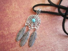 Dreamcatcher Charm Necklace by MammaShaClothing