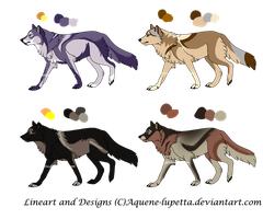 Customized wolves for fenrirhound by Aquene-lupetta