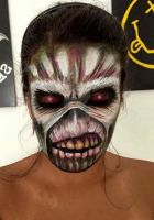 Eddie -The book of souls facepaint by mariana-a