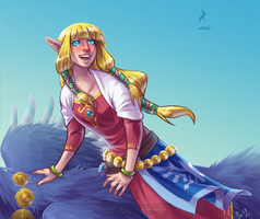 FANART: Skyward Sword Zelda by Chebits