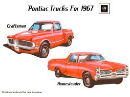 What If Pontiac Made Trucks In The 60s? by FastLaneIllustration