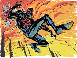 Spider-man 2099 by hyperjack08
