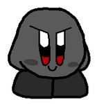 random dark kirby drawing by 0FurryFox0