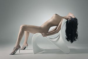 Nude on White Chair by jaytablante