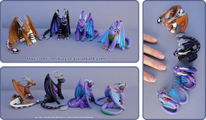 Fimo Dragons by Nko-ennekappao