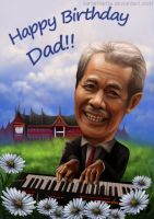 Ranty's Dad - caricature commission by vaniamarita