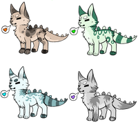 Stegocats 10 Point Adoptables OPEN by thedoomedkitteh