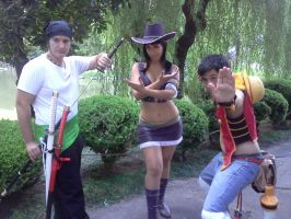 Nico Robin, Zoro, Luffy Cosplay by As-Naye