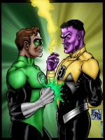 hal and sinestro by rcardoso530