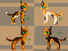 Calico Cat Adopts! 400 points each! 4/4 OPEN! by Hureji