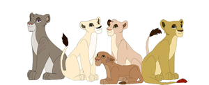 Pridelands Lionesses by YoungLioness