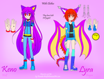 Human Style- Keno and Lyra Reference Clothes by KenotheWolf