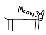 meow - an artwork by stuart robert foy age 18 by GodlikeMcx
