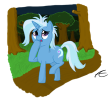 Trixie in the Everfree Forest by MrBastoff