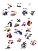 copic anime eyes oVo by Philosophy-in-Blue