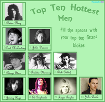 Top Ten Men: Rockstar Edition by PoppycockFanatic13