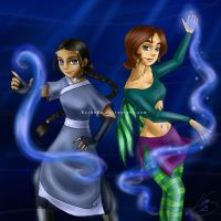 Katara and Irma - Water by Berende