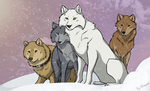 Wolf's Rain The Pack by Brittlebear