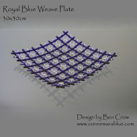 Royal Blue Weave - Fused Glass by ConnemaraBlue