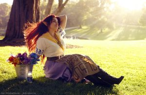 Just like her father - Malon LoZ cosplay by AstroKerrie