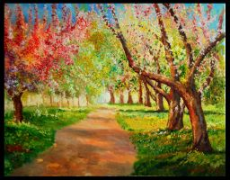 Trees in Spring by turkill