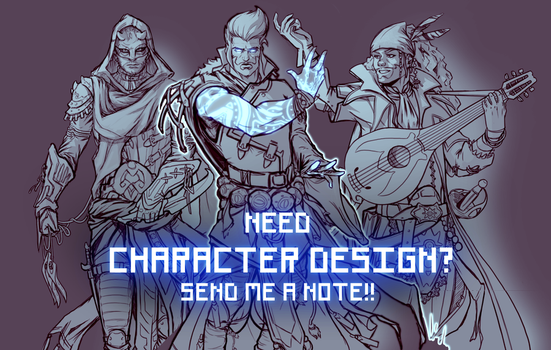 Character commissions OPEN! by NicoFari