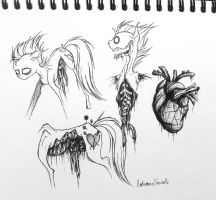 Gore Example Sketches by PinkamenaCheshirePie