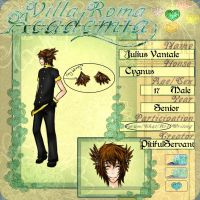VRA Application: Julius Vantale by PitifulServant