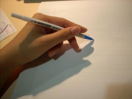 Writing Hand by Beautelle-stock