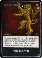 Magic Card Alteration: Coat of Arms Lannister by Ondal-the-Fool