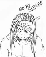 My First Jeff the Killer - Lineart by Lady-Elizriel