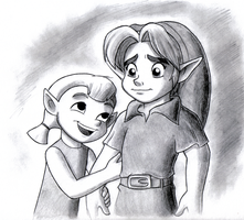 Aryll and Young Link by BlueLink