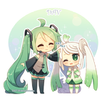 Miku and Leek by DAV-19