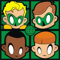 Green Lantern Pop Art Tile by HeadsUpStudios
