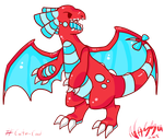 Red Cartoon Dragon by NassuArt