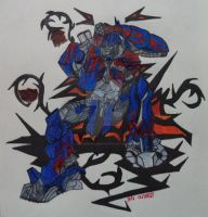 OPTIMUS PRIME A KING'S REGRET by SALVAGEPRIME8686