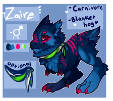 Zaire .: MYO TUFTY TREX CONTEST ENTRY:. by Fenny-Fang